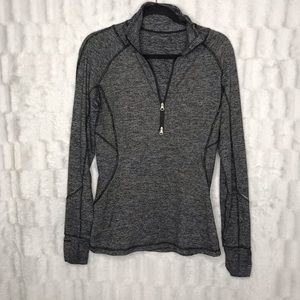 Lululemon Heathered Gray Half Zip Pullover Jacket